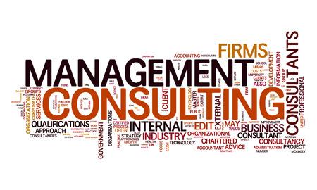Een afbeelding van een management consulting tekstwolk
