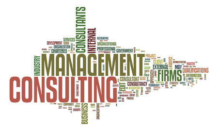 An image of a management consulting text cloud photo