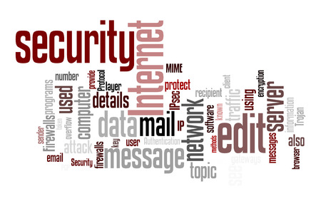 identity protection: An image of an internet security text cloud