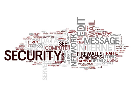 An image of an internet security text cloud photo