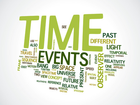 An image of a nice time text cloud Stock Photo