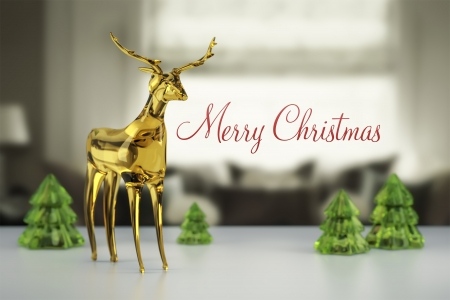 An image of a nice reindeer of glass photo