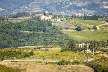 An image of a nice landscape in Italy near Volterra photo