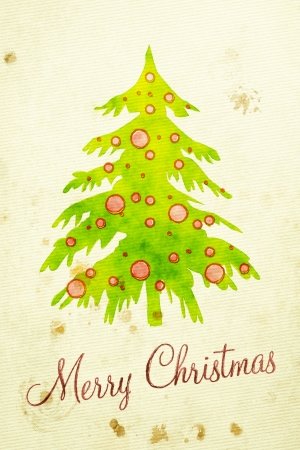 christmas watercolor: An image of a nice water color painting christmas