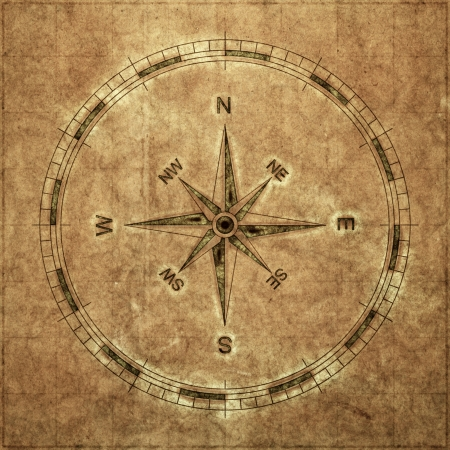 vintage world map: An image of a nice vintage compass