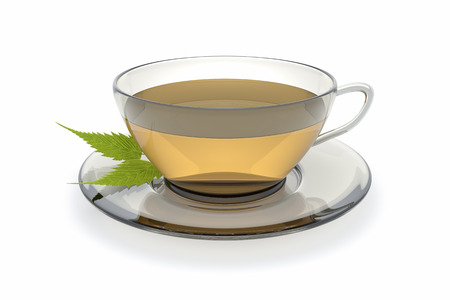 An image of a nice cup of tee isolated on a white background photo