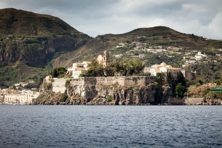 panarea: An image of the active vulcano islands at Lipari Italy