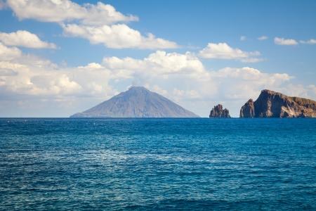 stromboli: An image of the active volcano islands at Lipari Italy Stock Photo