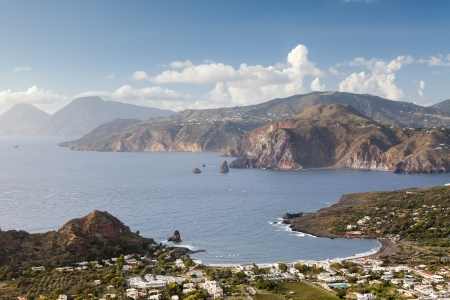 panarea: An image of the active volcano islands at Lipari Italy Stock Photo