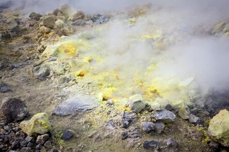 lipari: An image of the active volcano islands at Lipari Italy Stock Photo