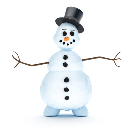 A nice snowman isolated on a white background photo