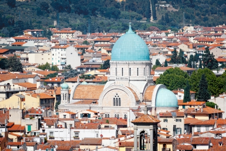 jewish home: An image of the Synagogue in Florence Italy