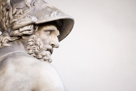 La scultura romana di Menelao che sostiene il corpo di Patroclo Archivio Fotografico - 23986031