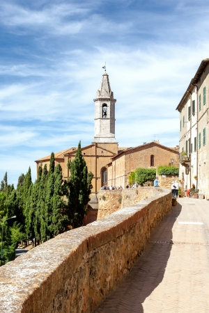 An image of the old church in Pienza Italy