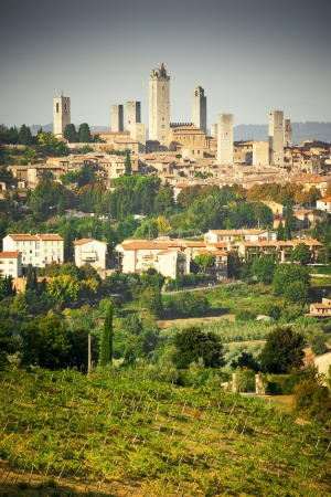 An image of the towers of San Gimignano in Italy photo