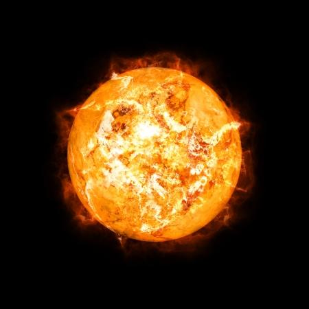 L'immagine di un sole dettagliata nello spazio Archivio Fotografico - 24695678