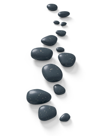 zen stones: An image with some step stones on a white