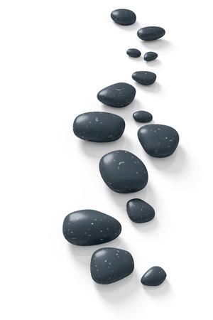 piedras zen: Una imagen con algunas piedras de paso en un blanco