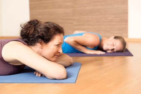 meditation help: An image of some people relaxing after yoga exercises