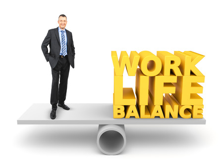 balance life: An image of a handsome business man in work life balance