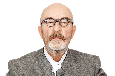 an old man with a beard photo
