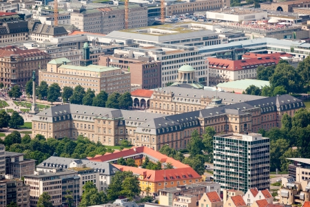 An image of the nice city Stuttgart in Germany photo