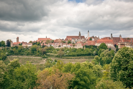 der: the medieval town Rothenburg in Germany