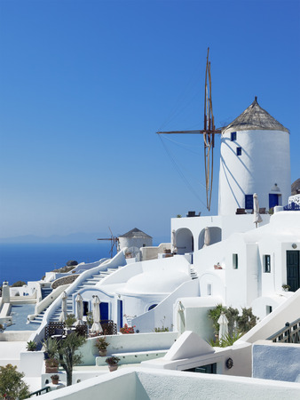 An image of a nice mill at Santorini Greece photo