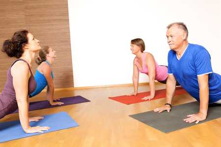 meditation help: An image of some people doing yoga exercises