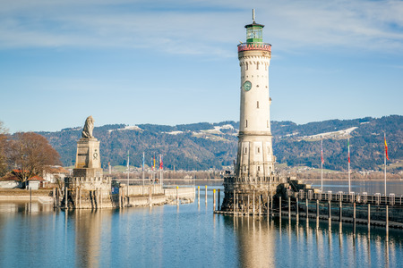 An image of the beautiful harbor at Lindau Germany photo