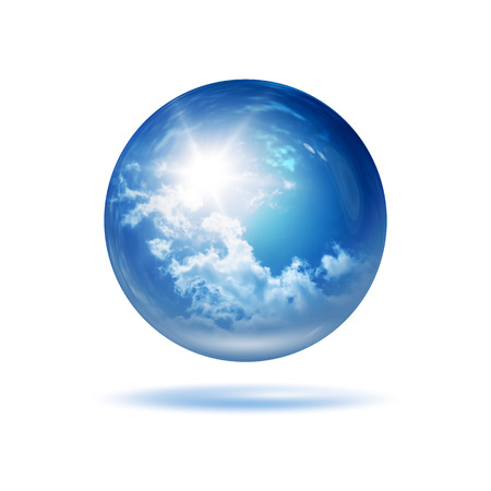 An image of a stylish weather glass orb photo