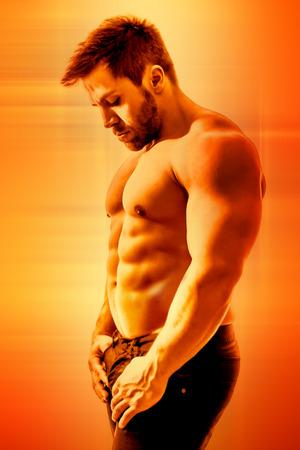 six packs: Body building man