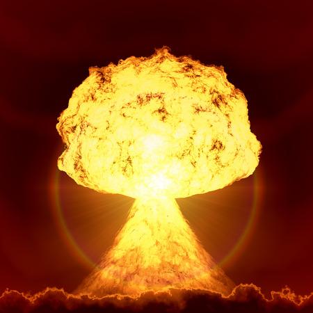 Een afbeelding van een nucleaire bom explosie