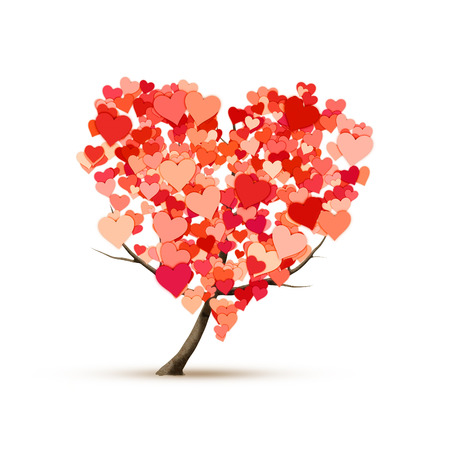 An image of a beautiful heart shape tree photo