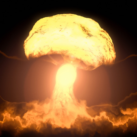 bombe atomique: Une image d'une explosion d'une bombe nucléaire Banque d'images