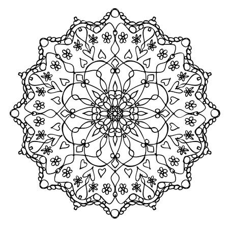 An image of a nice Mandala black and white
