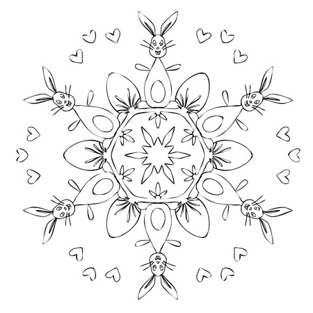 An image of a nice Mandala Easter Stock Photo