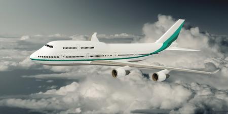 boeing 747: L'immagine di un Boeing 747 Aereo sopra le nuvole