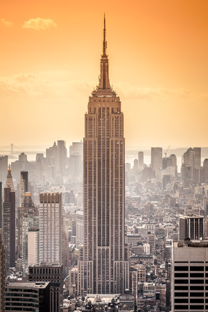 An image of the Empire State Building in New York
