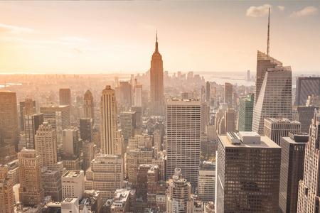 Ein Bild von der Empire State Building in New York Standard-Bild
