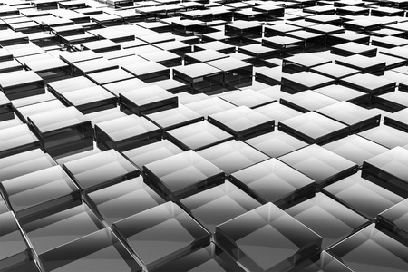 glass brick: An image of a nice abstract glass cubes background Stock Photo