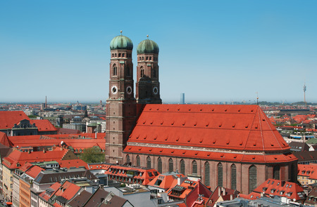 An image of the beautiful Frauenkirche in the bavarian city Munich in Germany photo