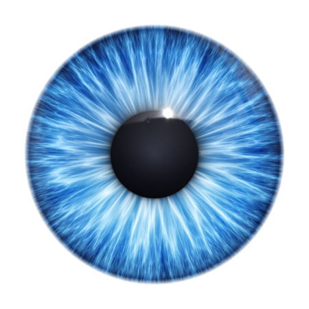 Una imagen de una textura agradable ojos azules Foto de archivo