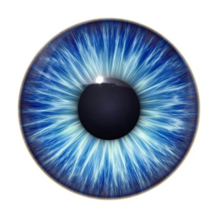 Ein Bild von einem schönen blauen Auge Textur