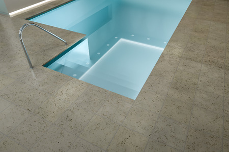 3d swimming pool: A 3D rendering image of an indoor pool SPA