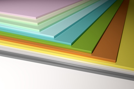 chipboard: An image of some colorful plain chipboard