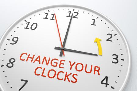 Een beeld van een mooie klok met tekst veranderen uw klokken