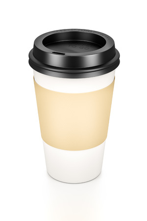 An image of a typical coffee to go cup photo