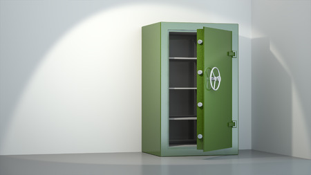 An image of an open empty safe photo