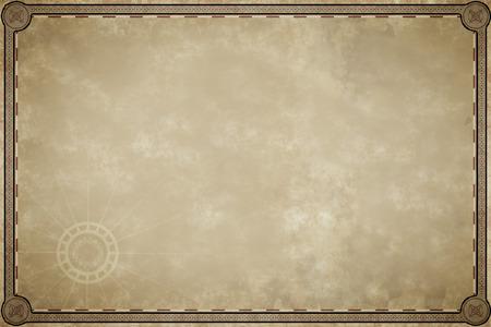Een afbeelding van een oude kaart perkament leeg